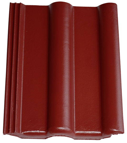 Dachziegel in Farbe Bordeaux, Dachziegel dunkelrot