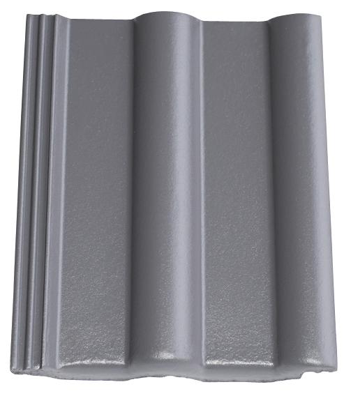 Dachziegel in Farbe grau