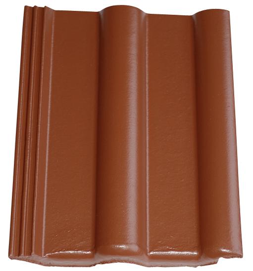 Dachziegel in Farbe Rotbraun